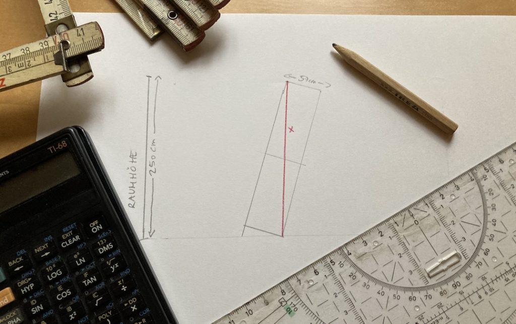 Schrankhöhe für Raumhöhe berechnen