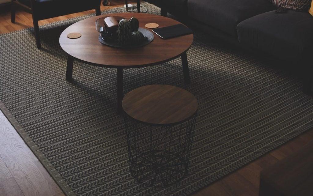 Teppich gruen